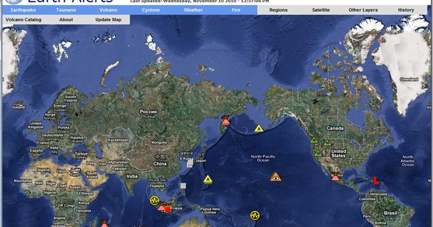 earth alerts 2010
